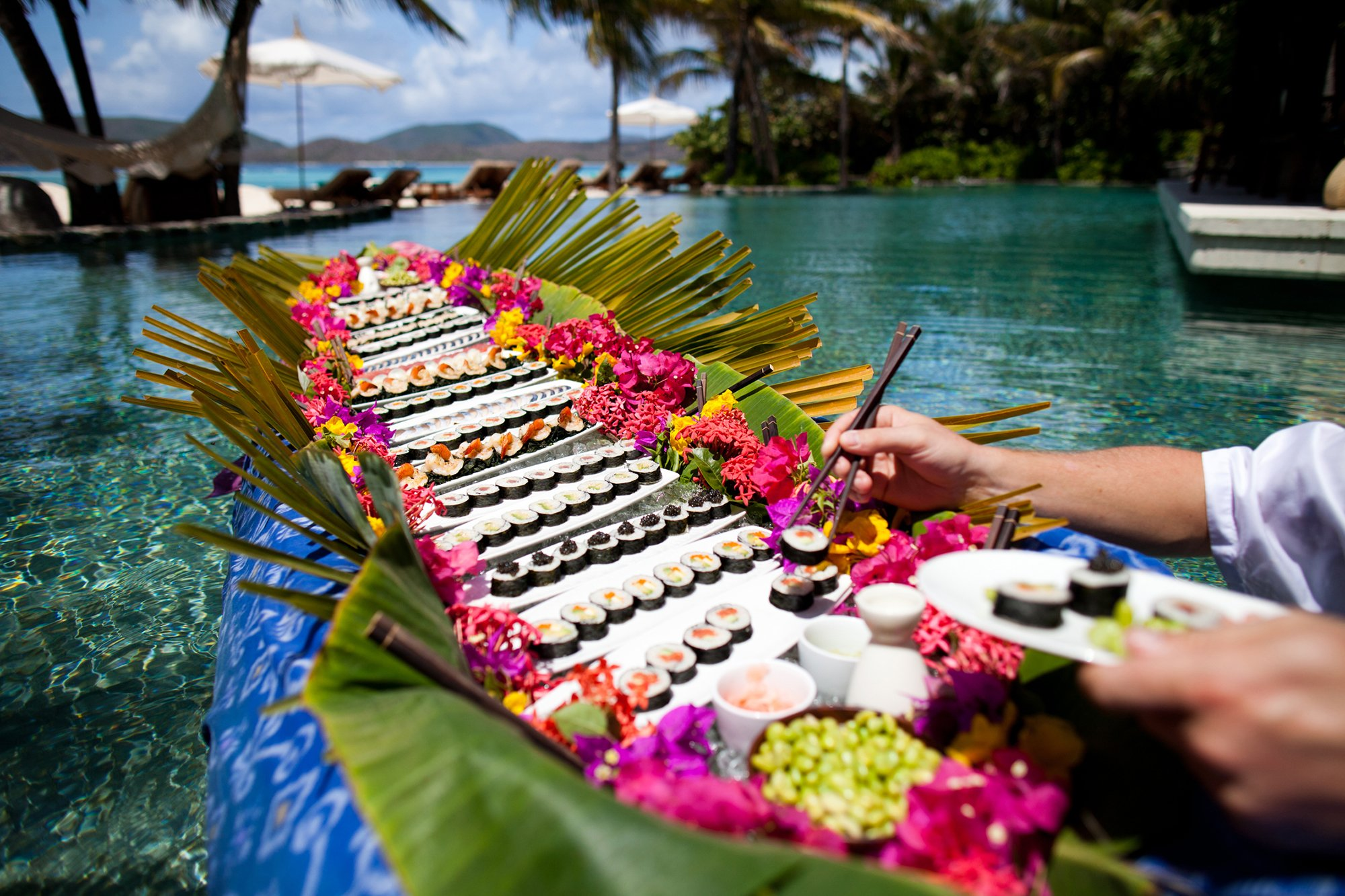 Necker-island-sushi-canoe